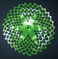 圓形綠白混色杯墊